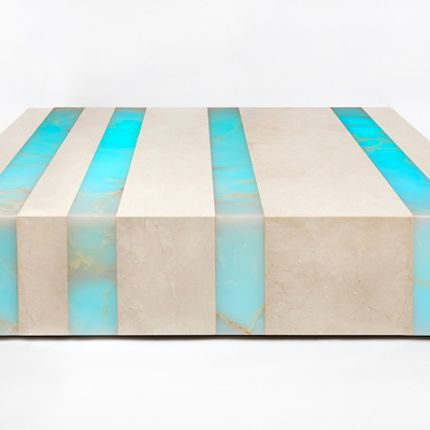 Tables basses - Luminous Rock Cocktail Table - IKTINOS MARMARON