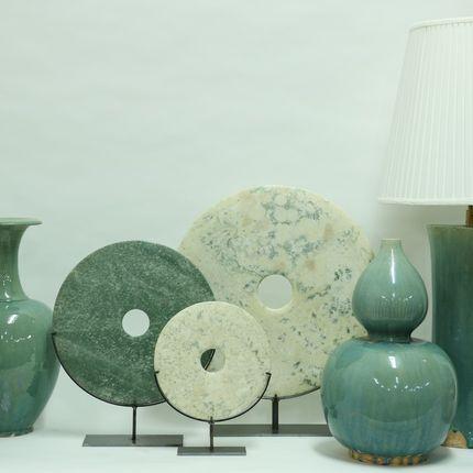 Objets de décoration - Celadon Pottery vases. - ORNAMENTA
