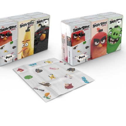 Mode enfantine - Paper handkerchiefs 6x9 Angry Birds - World Cart