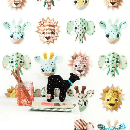 Papiers peints - Wild animals wallpaper sweet - STUDIO DITTE