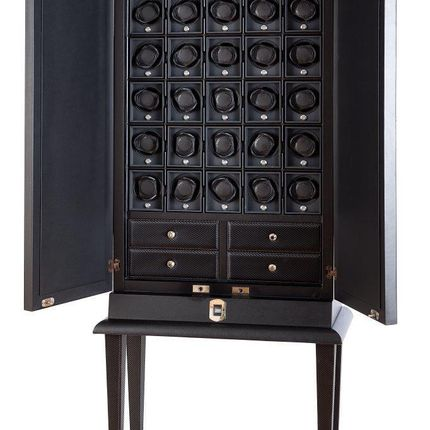 Unique pieces - THIRTY WATCH WINDER UNIT WITH BIOMETRIC LOCK SYSTEM - UNDERWOOD