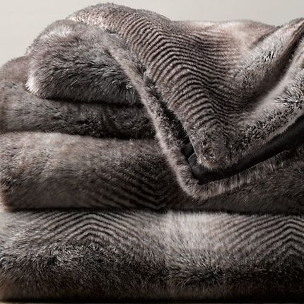 Throw blankets - Small Zebra Motif - JASON FUR COLLECTION