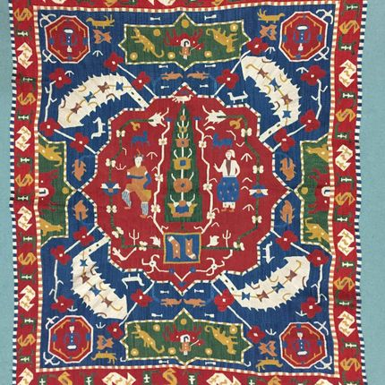 Couettes, oreillers - Handmade silk Caucasian Embroidery , - D HOME