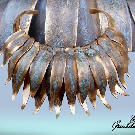 """Jewelry - Necklace """"Spring Leaf"""" - SZENDY GRINHILDA"""