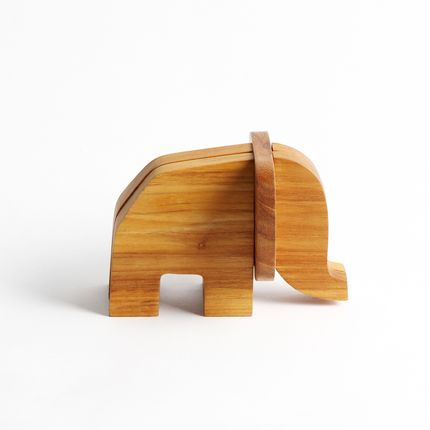 Paréo - Wooden card holder Elephant  - CHABATREE