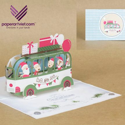 Gift - Christmas car  - PAPER ART VIET
