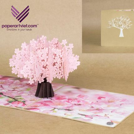 Gift - SAKURA  - PAPER ART VIET