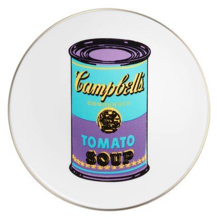"""Assiettes de reception - Andy WARHOL assiette """"Campbell"""" - LIGNE BLANCHE PARIS"""