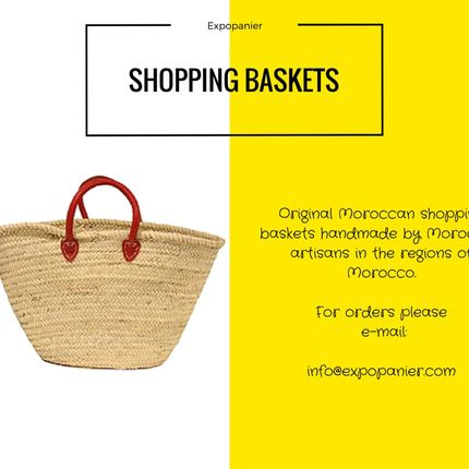 Shopping basket - Palm shopping basket  - EXPO PANIER