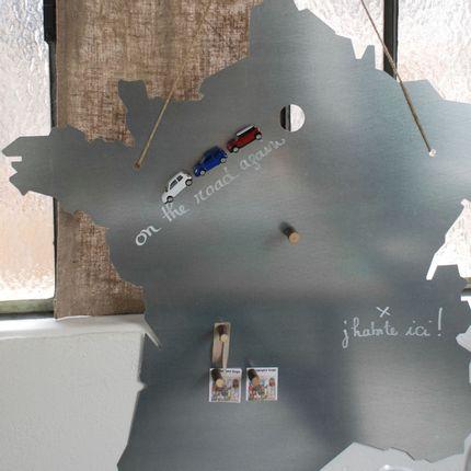 Wall decoration - Map of France, galvanised metal - UN ESPRIT EN PLUS