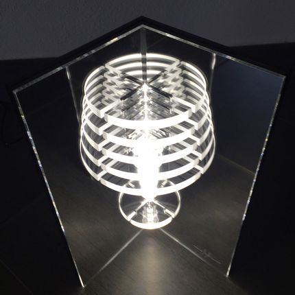 Lampes de table - MIRROR LAMP TABLE - MICHELE MALIN DESIGN