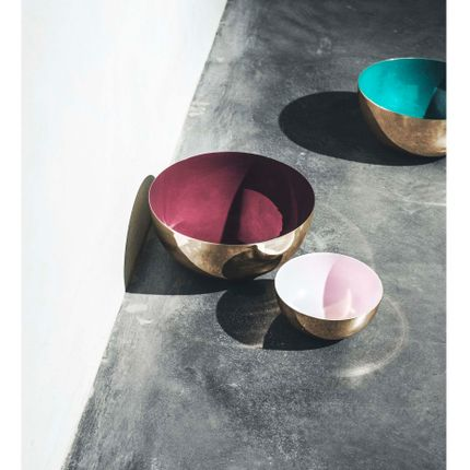 Bol - Metal Bowl with enamel - LOUISE ROE COPENHAGEN