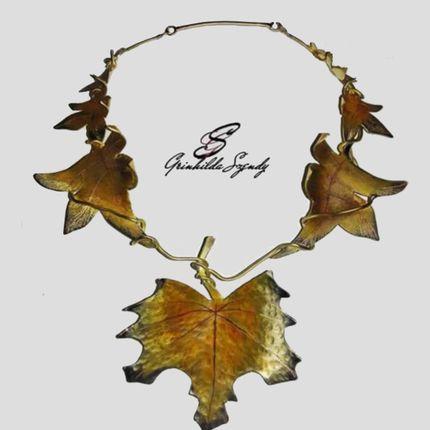 """Jewelry -  Necklace """"Autumn Leaf"""" - SZENDY GRINHILDA"""
