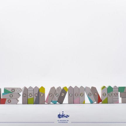 Stationery / Card shop / Writing - Calendrier de l'Avent - Modèle Trames - LA MAISON DU CALENDRIER