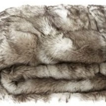 Throw blankets - WOLF FAUX FUR BLANKET - JASON FUR COLLECTION