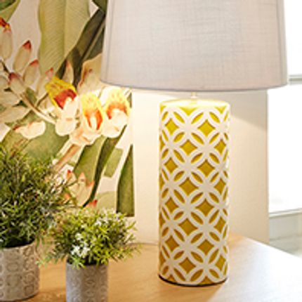 Lampes à poser - LAMPE CERAMIQUE CYLINDRIQUE - SEMA