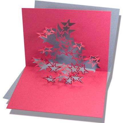 Stationery / Card shop / Writing - Pop-up card color - RIFLETTO FILIGRANES AUS PAPIER