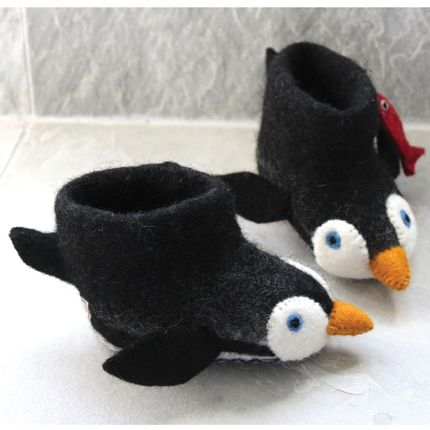Slippers / shoes - Pete the Penguin Slippers - SEW HEART FELT