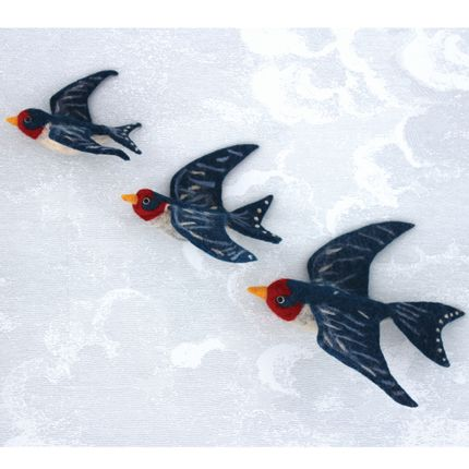 Décoration murale - Flying Swallow Wall Trio - SEW HEART FELT