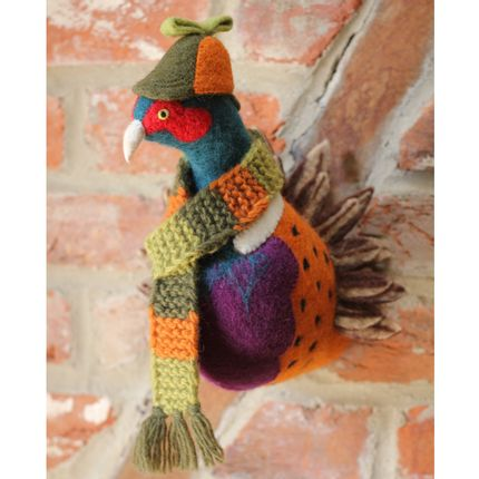 Décoration murale - Sherlock the Pheasant Head - SEW HEART FELT