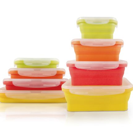 Molds - SET OF 4 FOLDABLE SILICONE CONTAINERS  - JOCCA