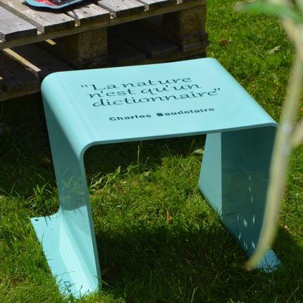 Chaises de jardin - TABOURET HAPPINESS - ID-FER MEUBLES EN METAL PLIE