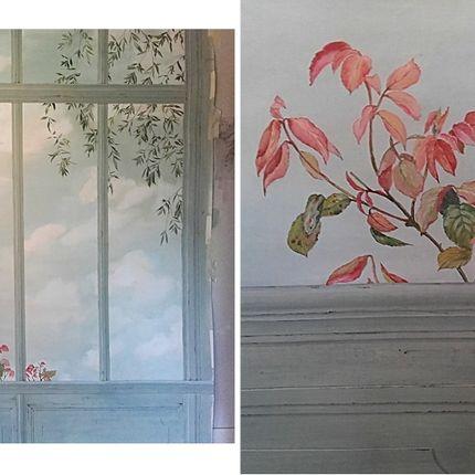 Décoration murale - Véranda en trompe-l'oeil - ATELIER  ATHENAIS DECORS PEINTS