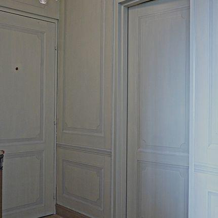 Décoration murale - Boiserie en trompe-l'oeil - ATELIER  ATHENAIS DECORS PEINTS