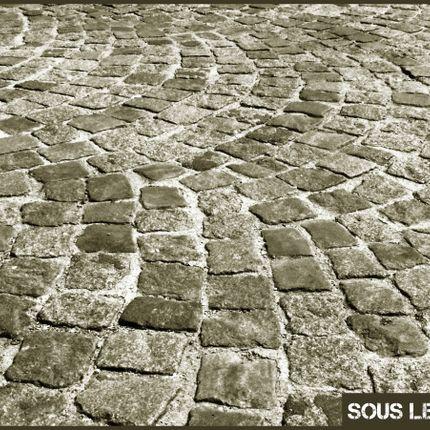 Tissus d'extérieur - Serviette de plage Sous les pavés, la plage sable - SOUS LES PAVÉS LA PLAGE