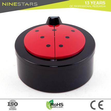 Office supplies - Desktop Ninestars Ladybug style DZT-2-18 trash can - NINESTARS