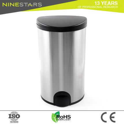Garbage - Ninestars QDT-50-19 toe tap trash bin - NINESTARS