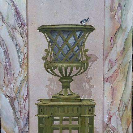Décoration murale - Vase Médicis en trompe-l'oeil - ATELIER  ATHENAIS DECORS PEINTS