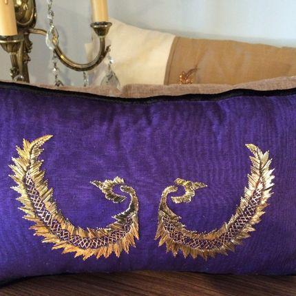 Design objects - Sırma silk cushion - DAIMA DIZAYN