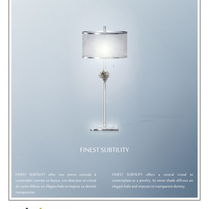 Table lamps - table lamp Finest Subtility - ADN CRÉATION LUMINAIRES D'EXCEPTION