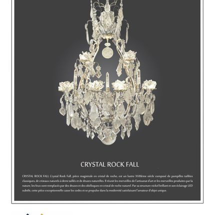 Suspensions - suspension Crystal Rock Fall - ADN CRÉATION LUMINAIRES D'EXCEPTION