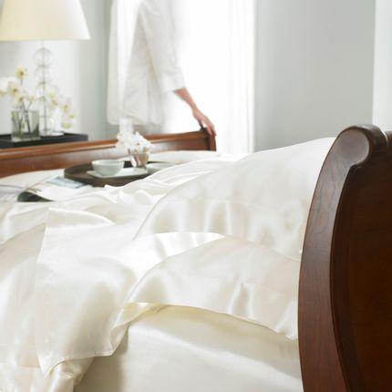 Bed linens - Ivory silk bed linen - GINGERLILY LTD