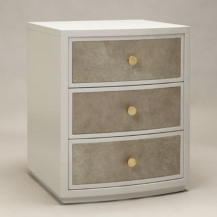 Tables de nuit - Diaz bedside in French Grey with Shagreen front - ROBERT LANGFORD