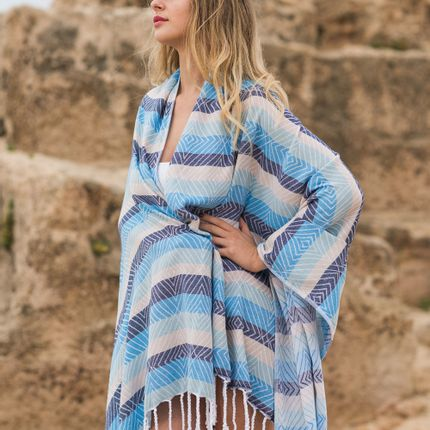 Sarong - Skye - Begonville Original Collection Turkish Towel - BEGONVILLE
