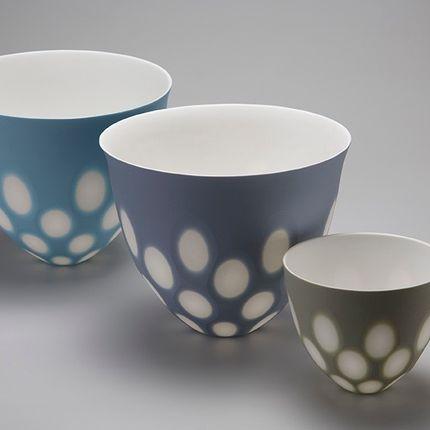 Céramique - Space Bowls, Edge and Shoal vases - SASHA WARDELL