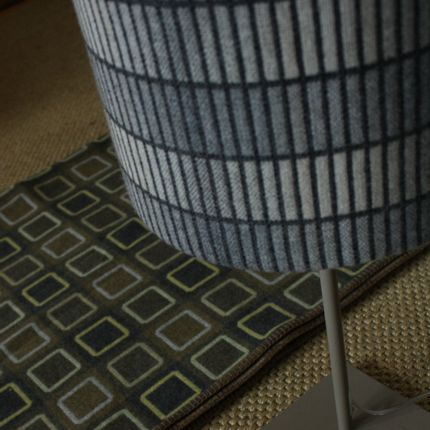 Objets design - Groove Grey Lampshade - CHALK WOVENS (UK) LTD