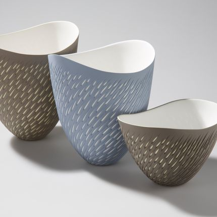 Céramique - Shoal Vases and bowl - SASHA WARDELL
