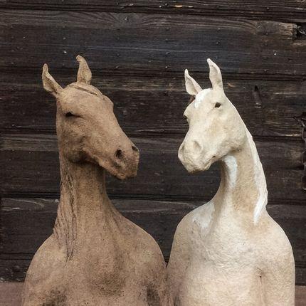 """Sculpture - """"Ancêtre"""" Cheval - CAROLO SCULPTURE"""