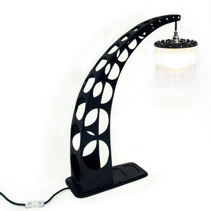 Table lamps - C_STL_90 - CREPUSCULE - STEELWOODANDGLASS