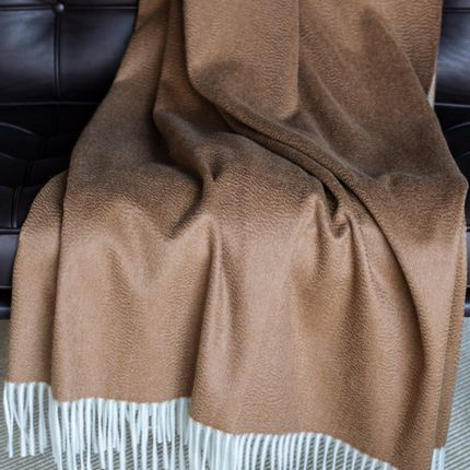 Throw blankets - Double Face Vicuna/Cashmere Throw - ARTIGIANI DEL CASHMERE