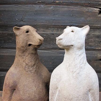 """Sculpture - """"Ancêtre"""" Ours - CAROLO SCULPTURE"""