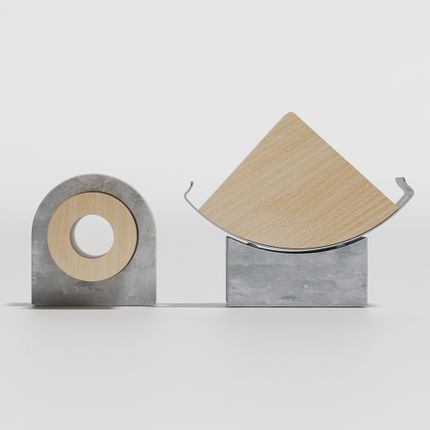 Design objects - smart device stand and apple watch stand - FROMA