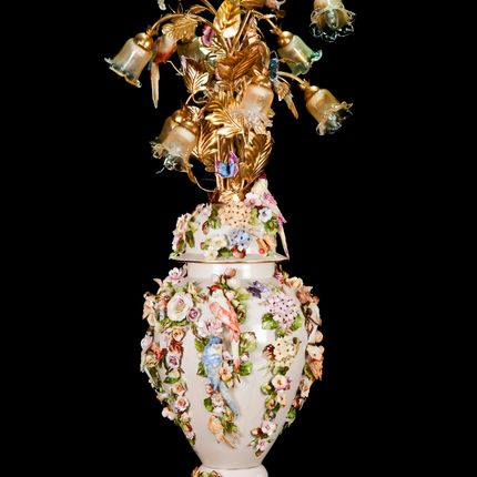 Lampadaires - LAMPE DE PLANCHER - I BORBONE ARTE DI CAPODIMONTE