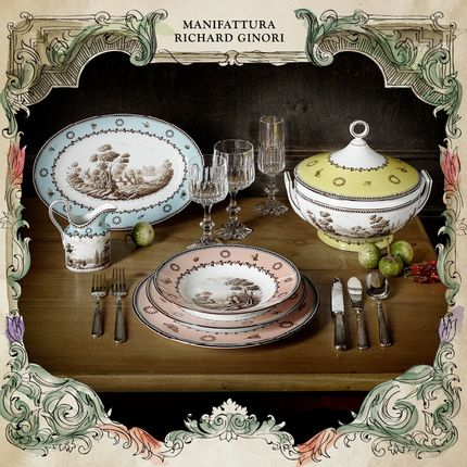 Formal plates - Paesaggi Collections - RICHARD GINORI 1735