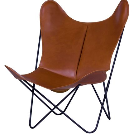 Armchairs - AA Butterfly chair with leather cover - AA NEW DESIGN