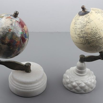 Decorative objects - GLOBES with MARBLE STAND - LUXURIOUS ARTS